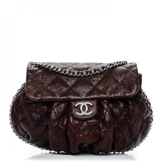 Chanel Chain Around Flap Quilted Crumpled Medium