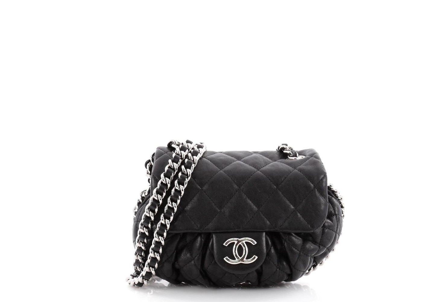 01040d9bcbc Chanel Chain Around Flap Quilted Diamond Small Black. Quilted Diamond Small  Black