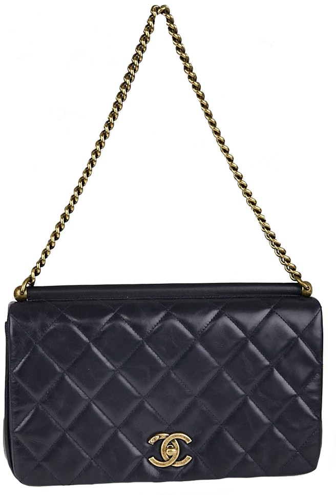 Chanel Flap Paris in Roma Quilted Blue