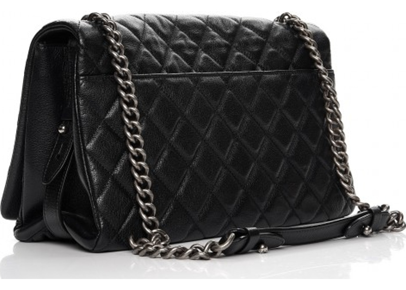 46e2fa6b877c Sell. or Ask. View All Bids. Chanel City Rock Flap Quilted Diamond Metallic  Large Black