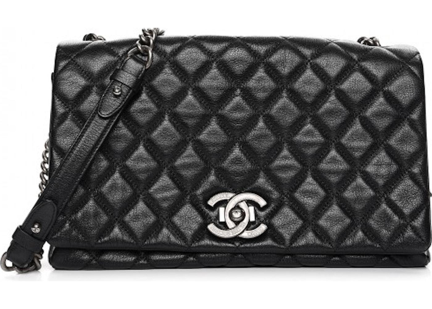 a9e28c77de3d Chanel City Rock Flap Quilted Diamond Metallic Large Black. Quilted Diamond  Metallic Large Black