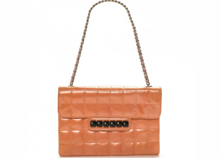 Chanel Clutch Flap Square Stitch Keyboard Orange