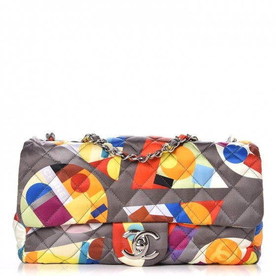 Chanel Coco Color Flap Printed Nylon Medium Multicolor