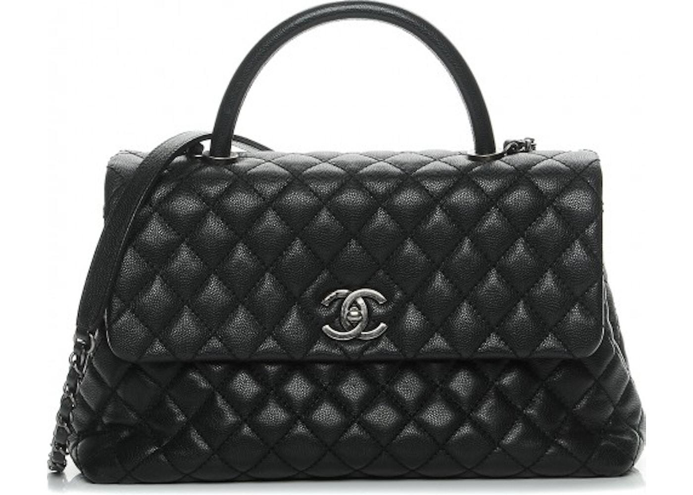 429f2be8f52c Chanel Coco Handle Flap Diamond Quilted Medium Black. Diamond Quilted Medium  Black