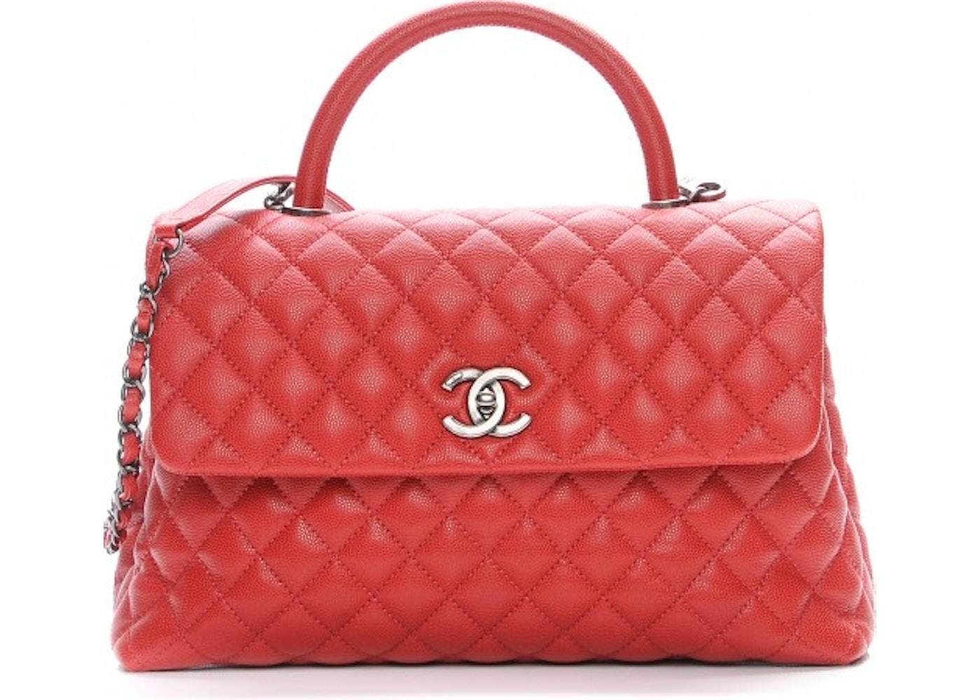 e214c39da69e Chanel Coco Handle Flap Quilted Diamond Medium Dark Red. Quilted Diamond  Medium Dark Red