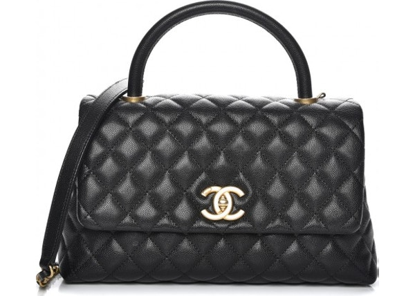 571c5fa4f801 Chanel Coco Handle Flap Quilted Diamond Small Black