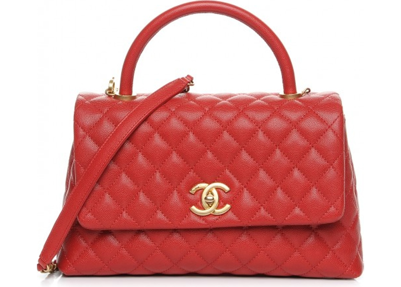 d79d4f568f9dea Chanel Coco Handle Flap Quilted Diamond Small Red. Quilted Diamond Small Red