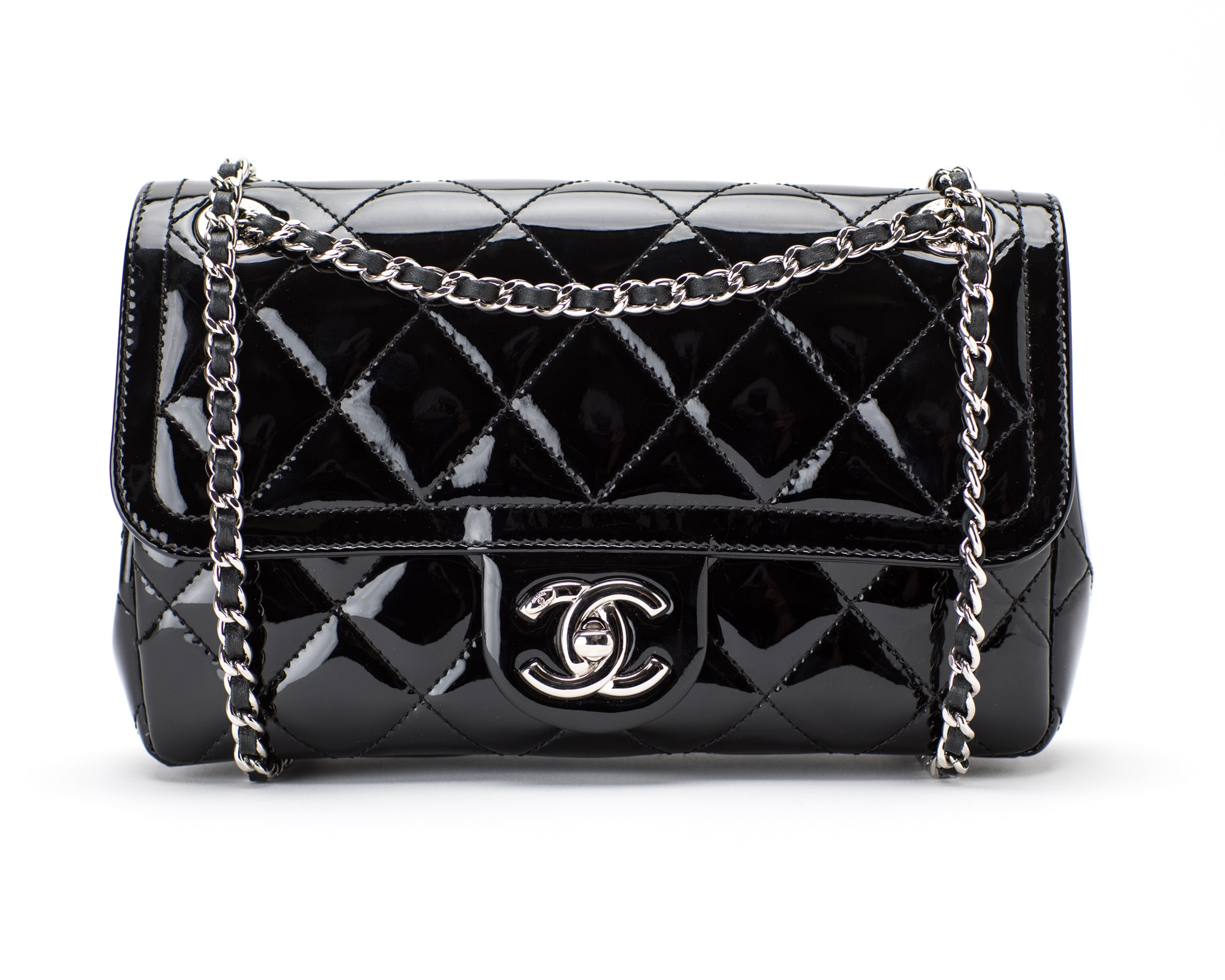 Chanel Flap Coco Shine Quilted Small Black