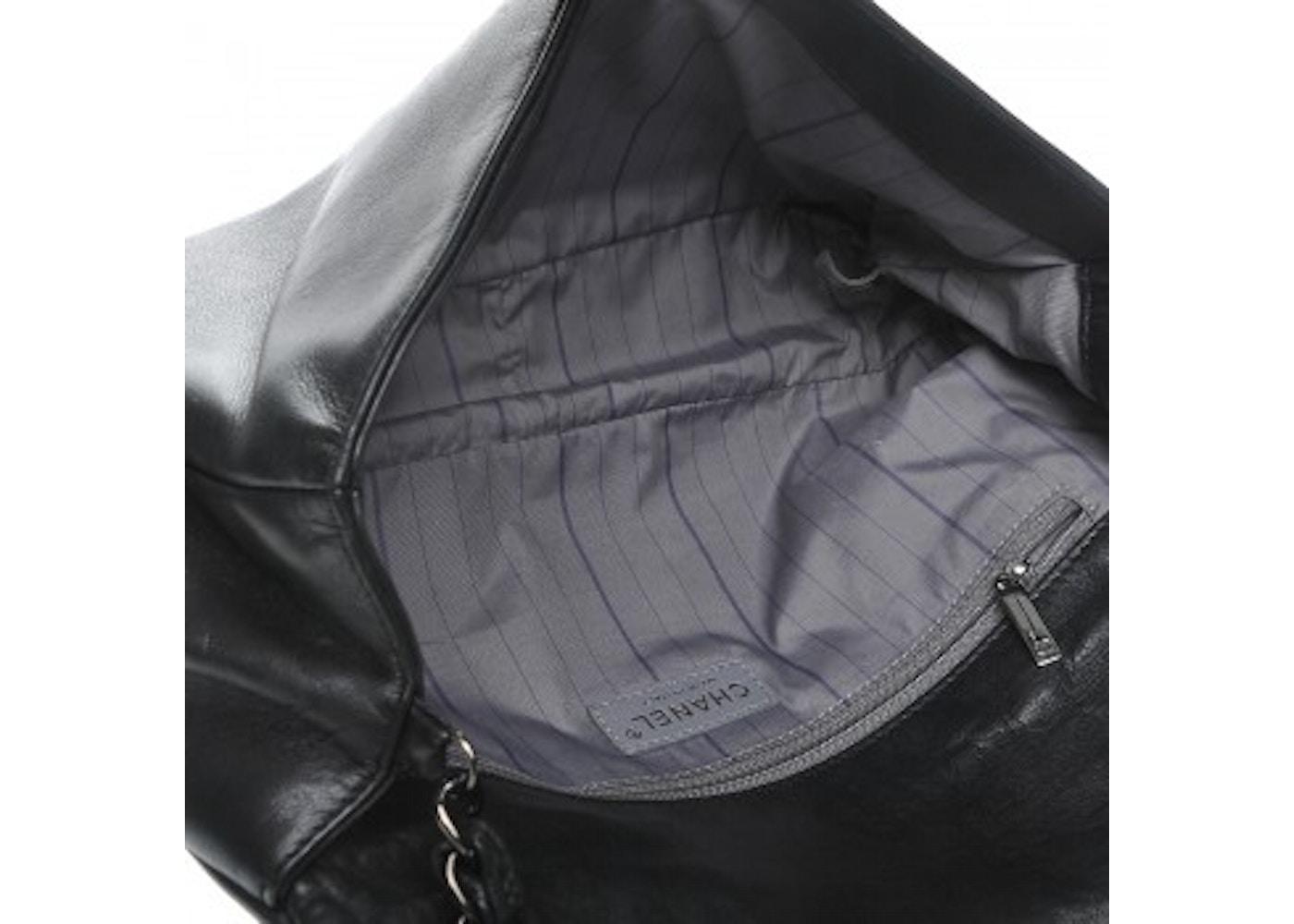 3200ca71f602 Chanel East West CC Flap Studded Black