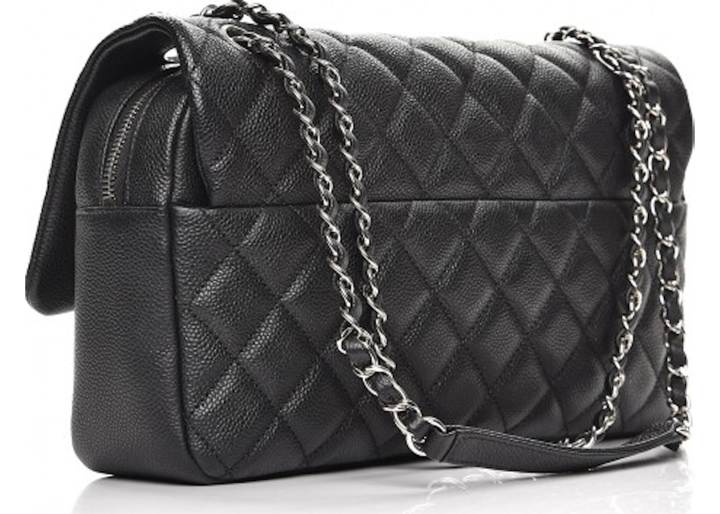 652aa9123632 Sell. or Ask. View All Bids. Chanel Easy Flap Quilted Diamond Jumbo Black
