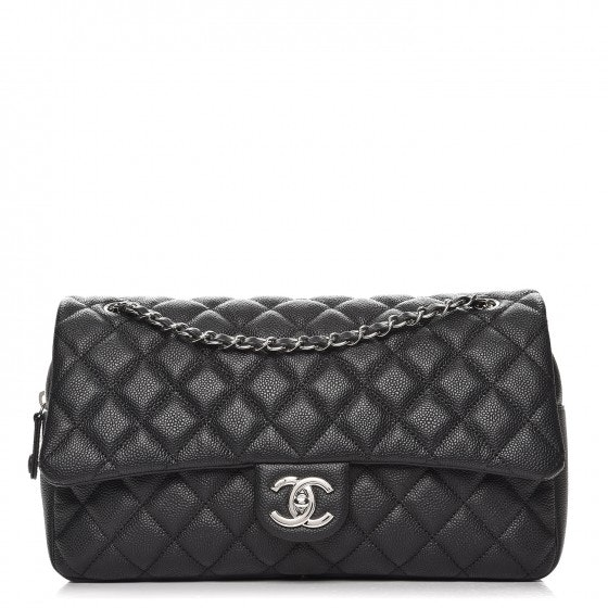 Chanel Easy Flap Quilted Diamond Jumbo Black