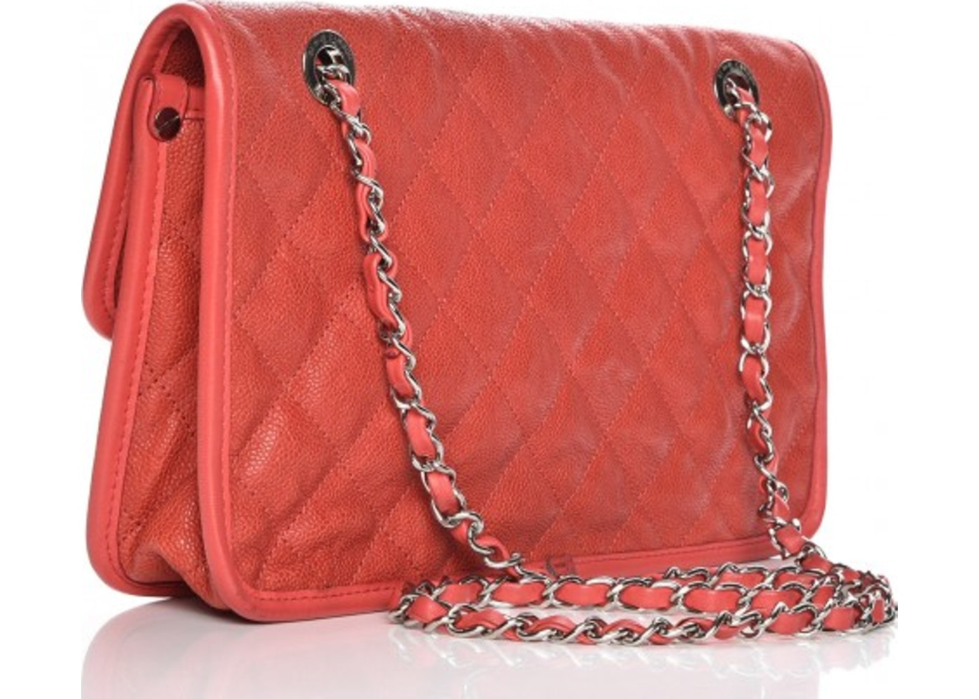 12859d51e98fa1 Chanel Flap French Riviera Quilted Medium Red