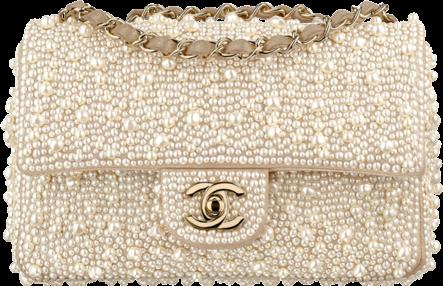 Chanel Flap Bag Imitation Pearls Ivory