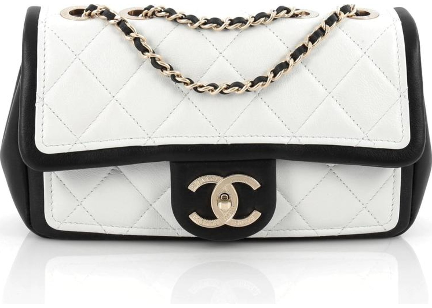 12509d5a5fa8ee Chanel Graphic Flap Quilted Diamond Small Black/White. Quilted Diamond Small  Black/White