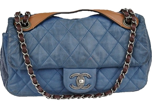 ebab885f994ca1 Chanel Flap In the Mix Quilted Iridescent Medium Blue