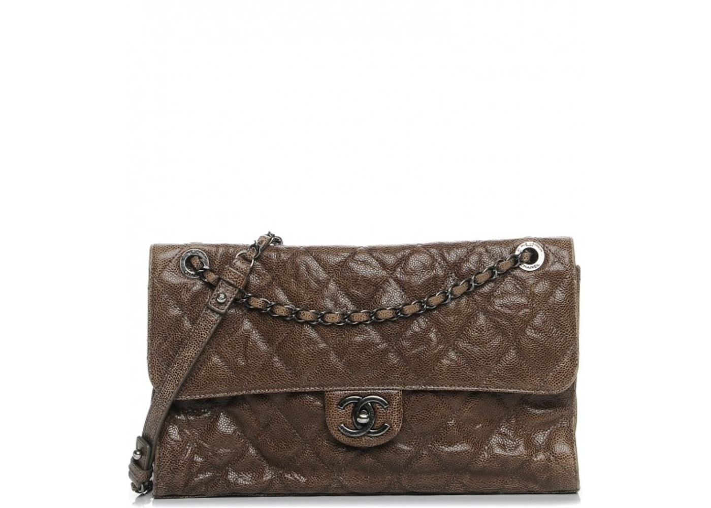 7807c8462109 Chanel CC Crave Flap CC Crave Quilted Crumple/Grained Jumbo