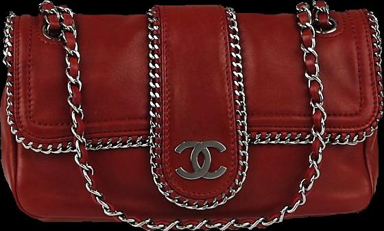 Chanel Flap Madison Chain medium Red