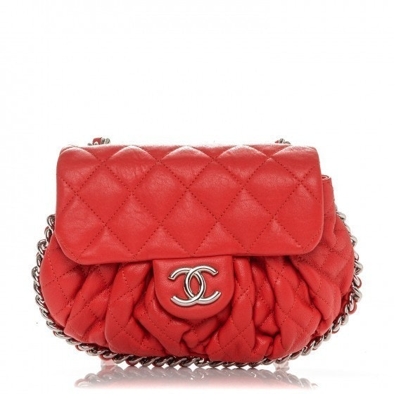 Chanel Flap Messenger Diamond Chain Around Quilted Mini