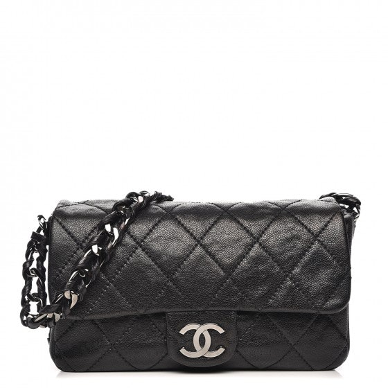 Chanel Moder Chain Flap Quilted Glazed