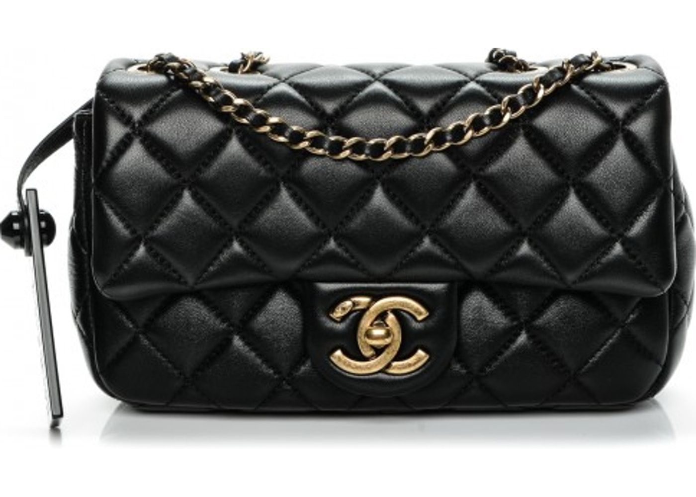 034fe61a808cb3 Chanel Rectangular Flap Meat Packaged Quilted Mini Black. Meat Packaged Quilted  Mini Black