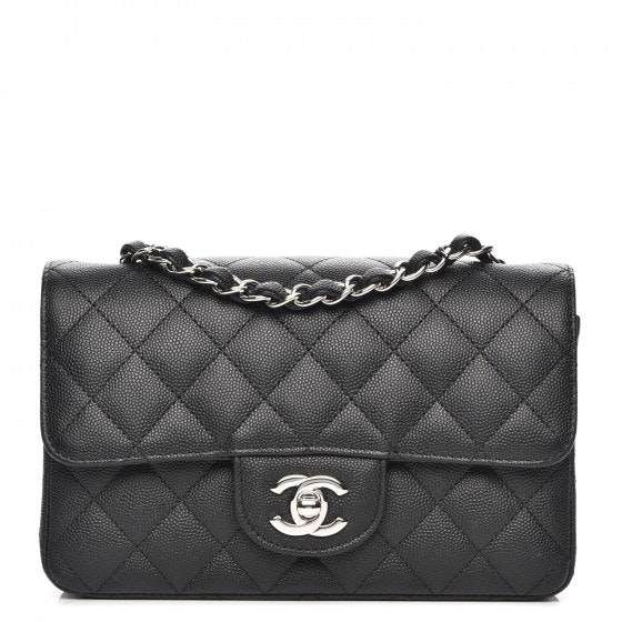 Chanel Rectangular Flap Quilted Diamond Mini Black