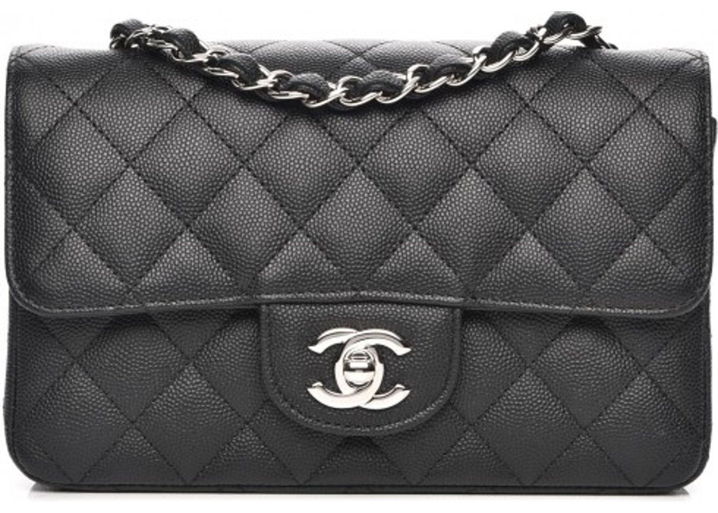 Chanel Rectangular Flap Quilted Diamond Mini Black d7632b926c57c