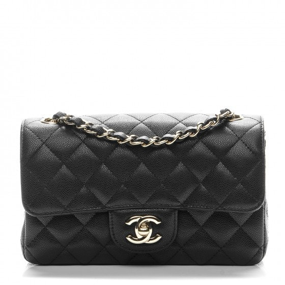 Chanel Rectangular Flap Quilted Mini Black