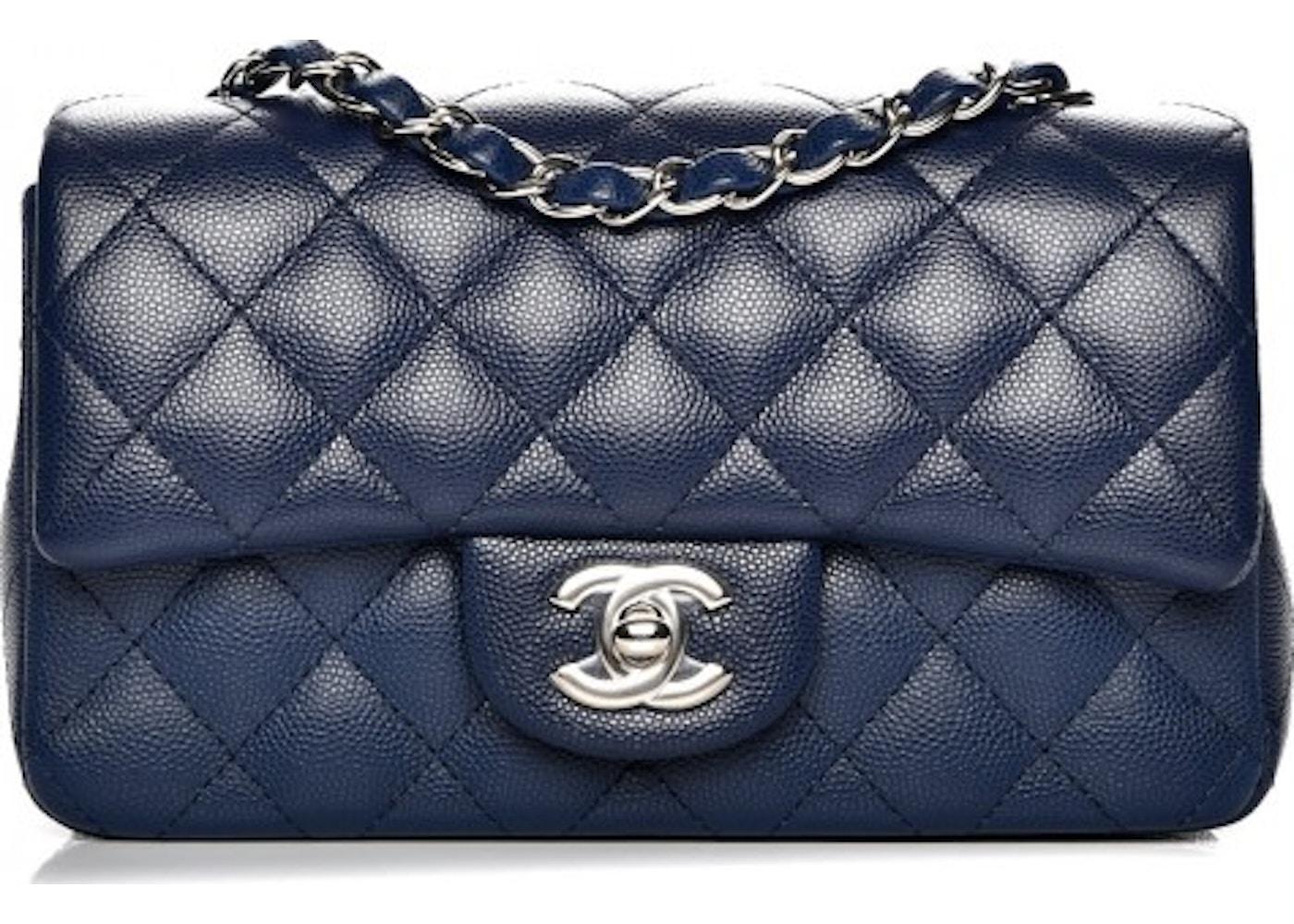 ebb9aec436e84a Chanel Rectangular Flap Quilted Diamond Mini Navy Blue