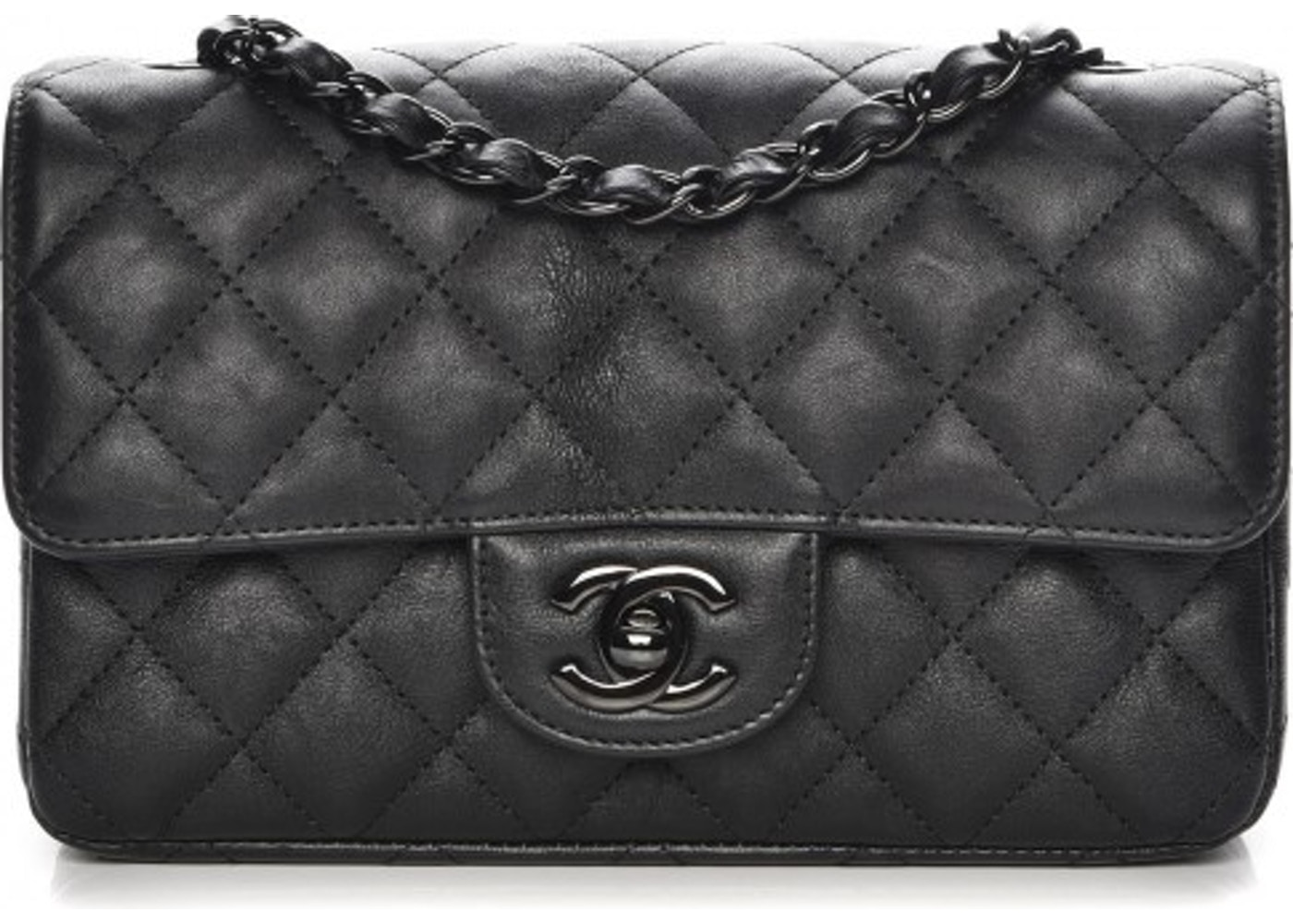 6953d80664cd Chanel Rectangular Flap Quilted So Black Diamond Mini Black. Quilted So Black  Diamond Mini Black