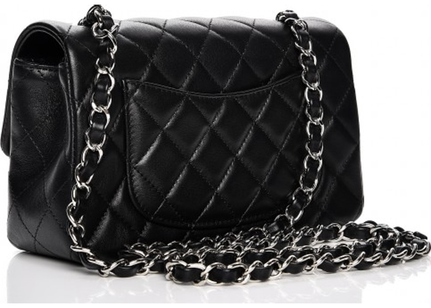 4656381d69908e Chanel Rectangular Flap Quilted Diamond Mini Black