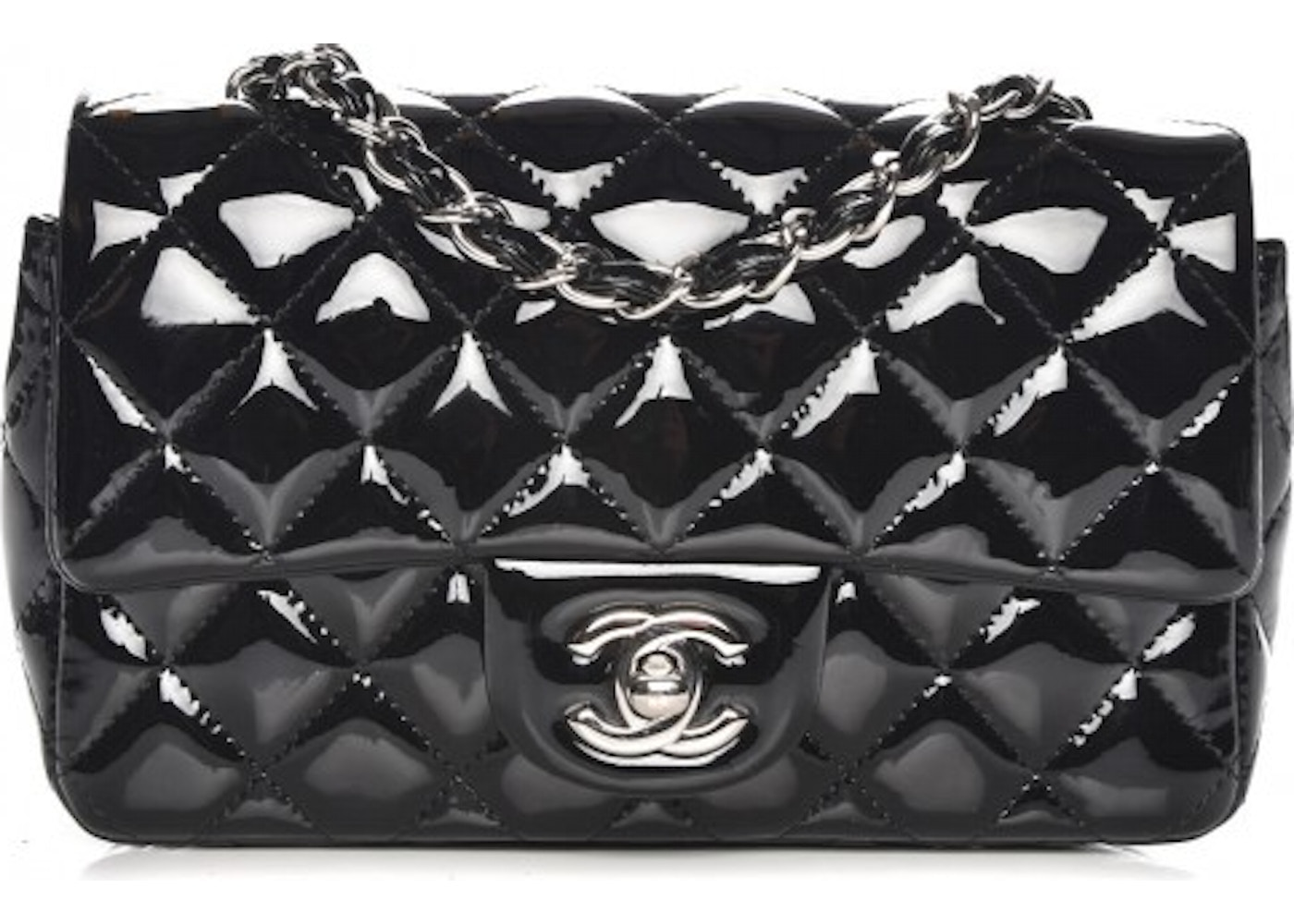 1f539015dc046c Chanel Rectangular Flap Quilted Diamond Mini Black. Quilted Diamond Mini  Black