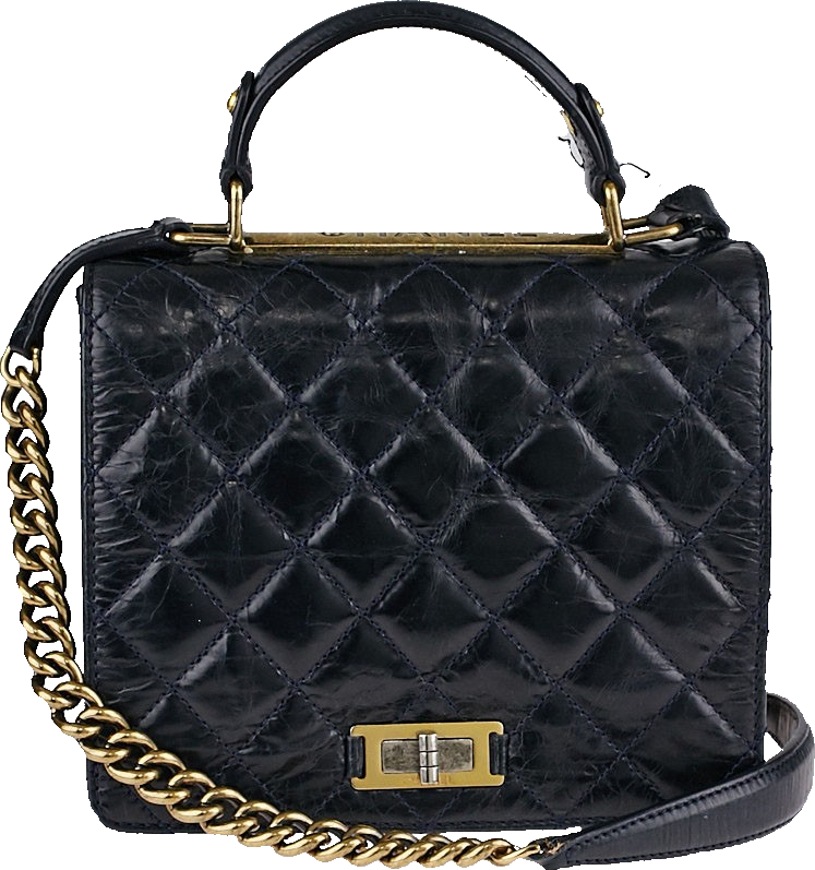 Chanel Flap Rita Quilted Glazed Blue