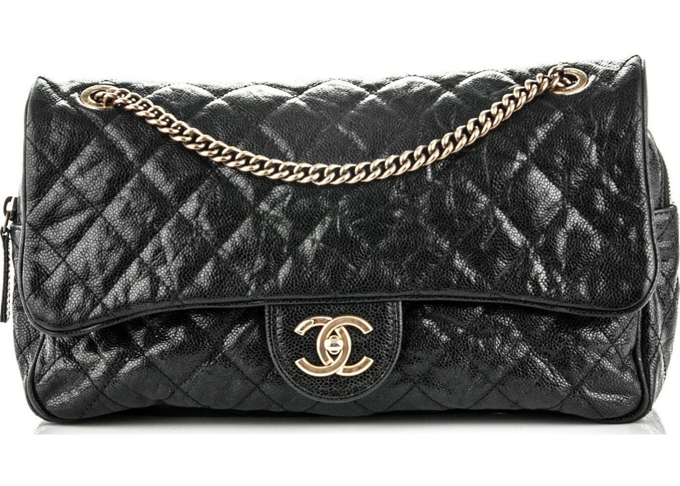 ce1b341c831820 Sell. or Ask. View All Bids. Chanel Flap Shiva Quilted Glazed Large Black