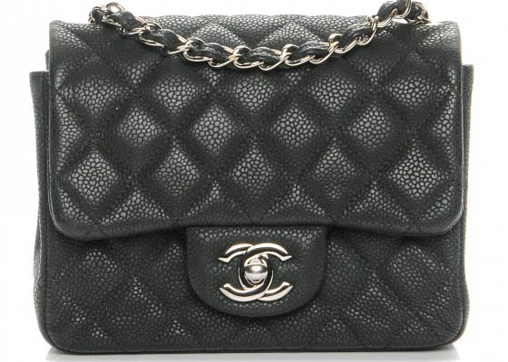 Chanel Square Flap Quilted Iridescent Mini Black