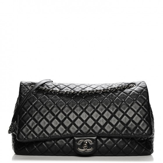 Chanel Travel Flap Quilted XXL Black