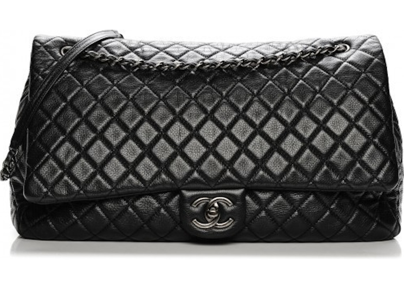 1c5466bf02f372 Chanel Travel Flap Quilted XXL Black. Quilted XXL Black
