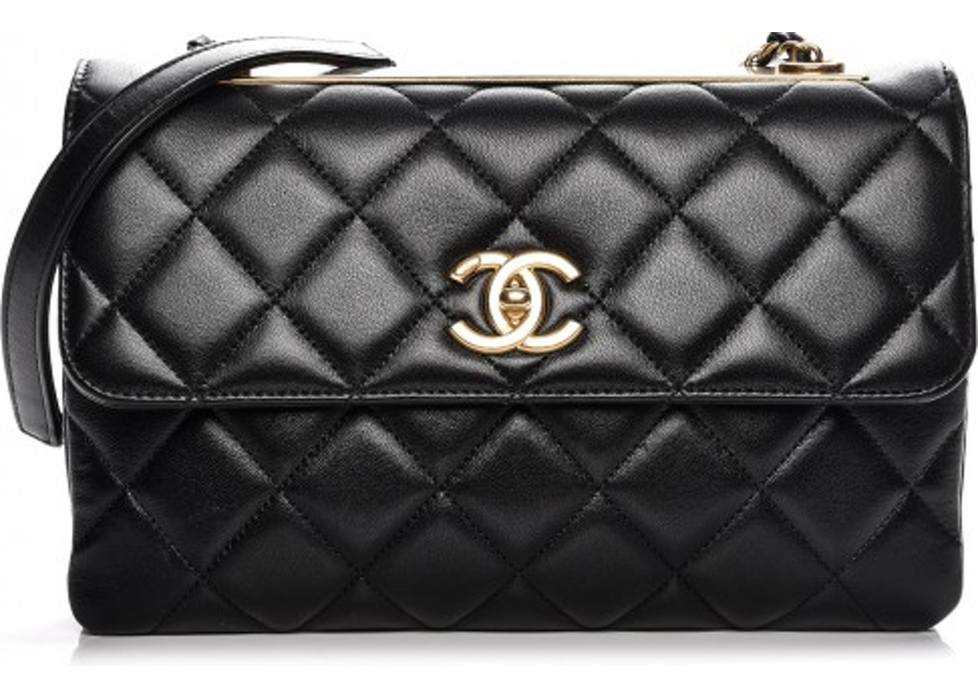 2fd5e82587c5 Chanel Trendy CC Flap Diamond Quilted Medium Black. Diamond Quilted Medium  Black