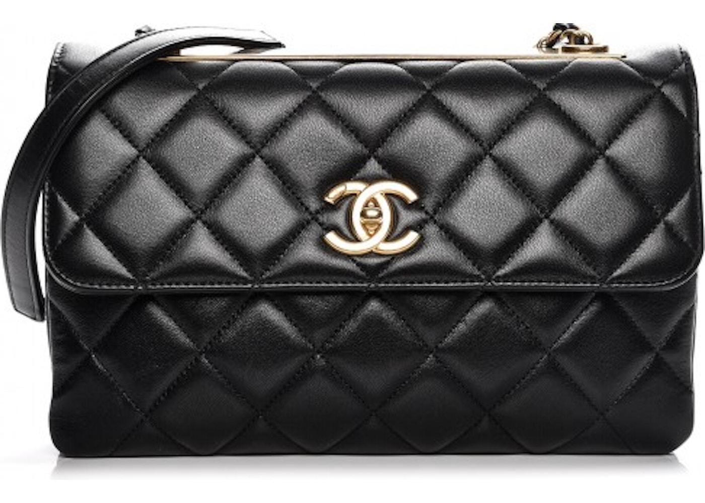 76fe7b76bcfdfe Chanel Trendy CC Flap Diamond Quilted Medium Black. Diamond Quilted Medium  Black
