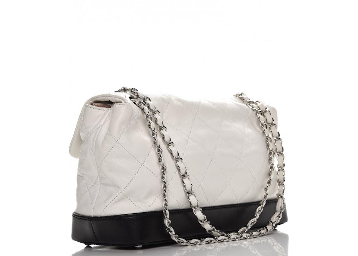 556f2fa31a1e Chanel VIP Flap Quilted Diamond White/Black