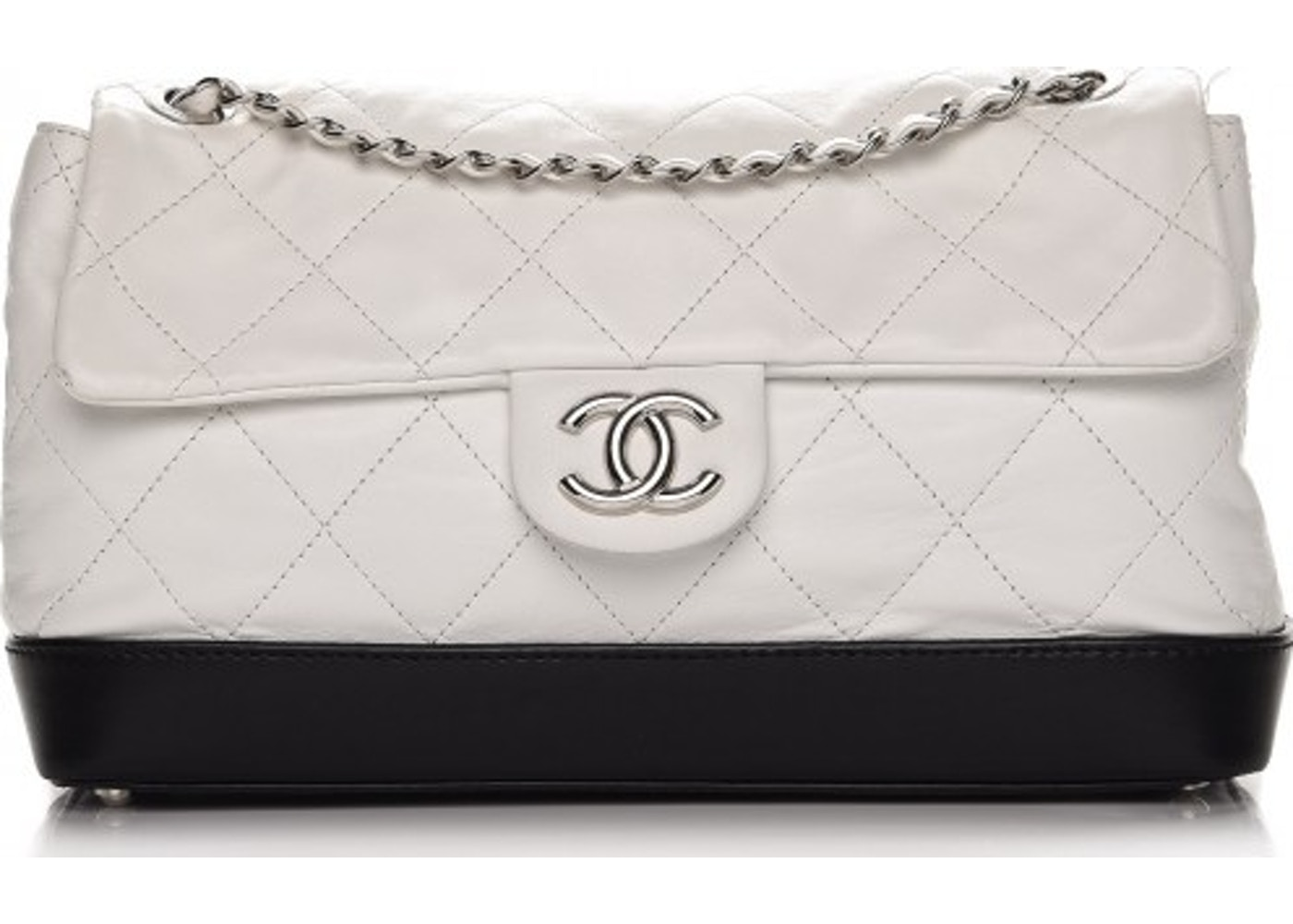 b61bb0e55ef5 Chanel VIP Flap Quilted Diamond White/Black. Quilted Diamond White/Black