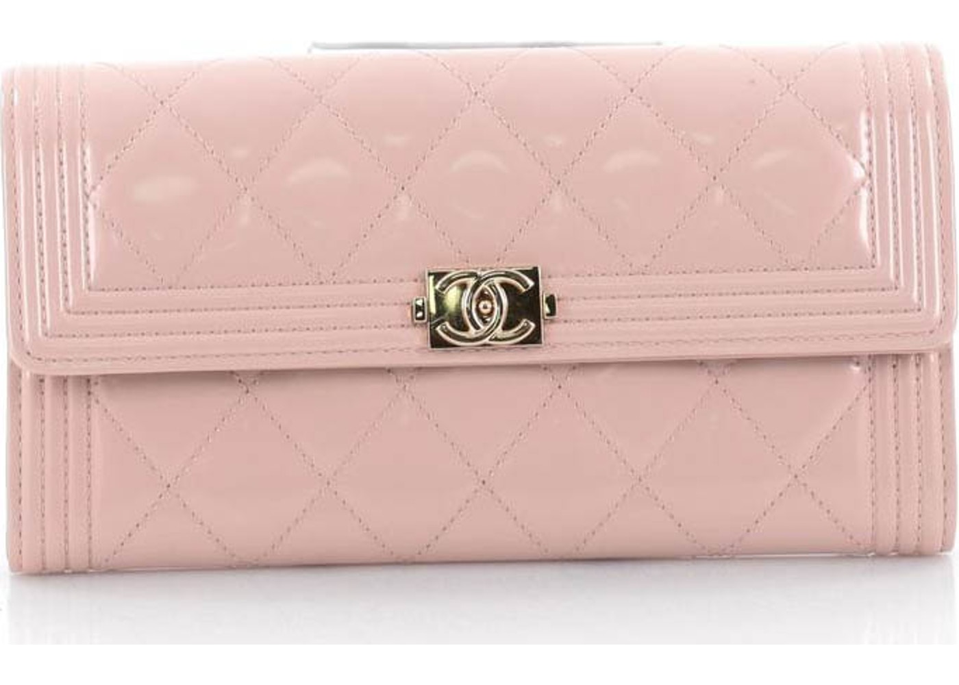 1100307bb72c Chanel Boy Flap Wallet Quilted Diamond Long Light Pink. Quilted Diamond  Long Light Pink