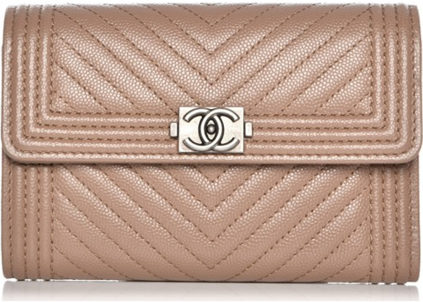 39b35e3df8ee51 Chanel Boy Flap Wallet Quilted Chevron Medium Caviar. Quilted Chevron Medium  Caviar