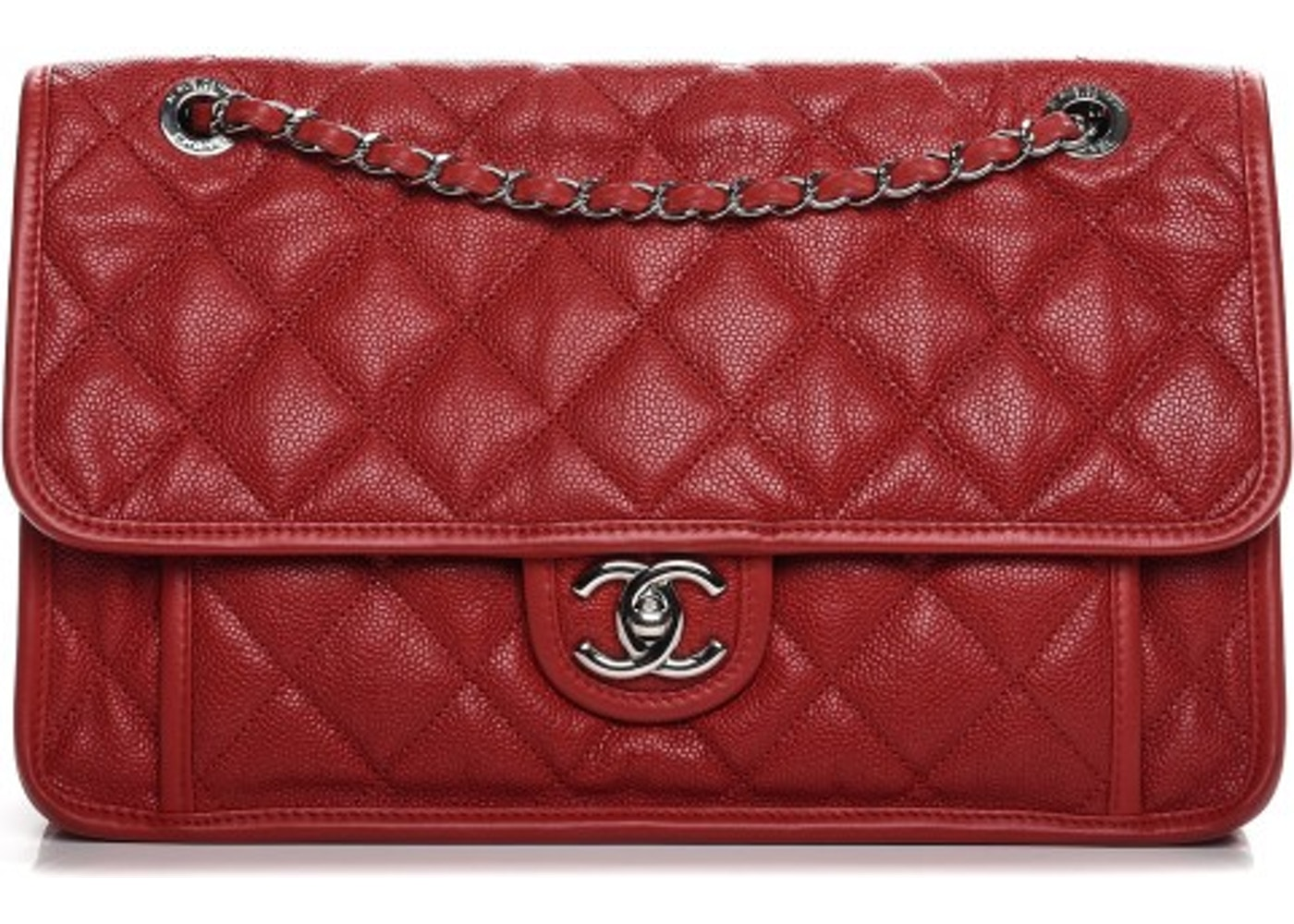 2f153d4d336f62 Chanel French Riviera Flap Quilted Diamond Large Red. Quilted Diamond Large  Red
