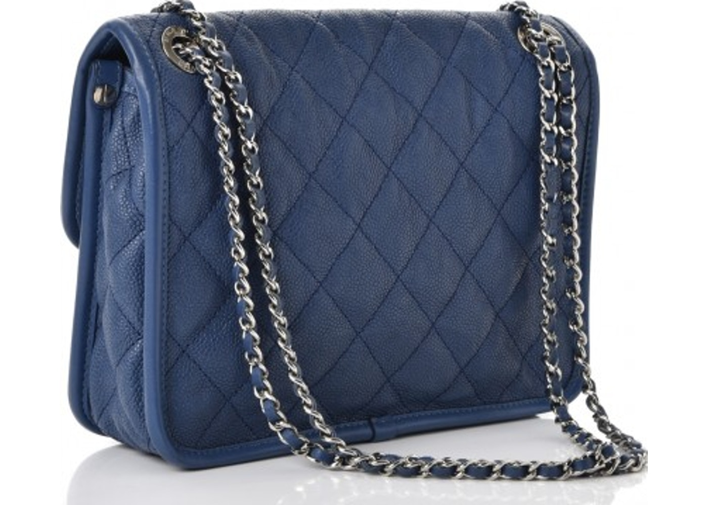 3d54118517f1 Chanel French Riviera Flap Quilted Diamond Mini Blue