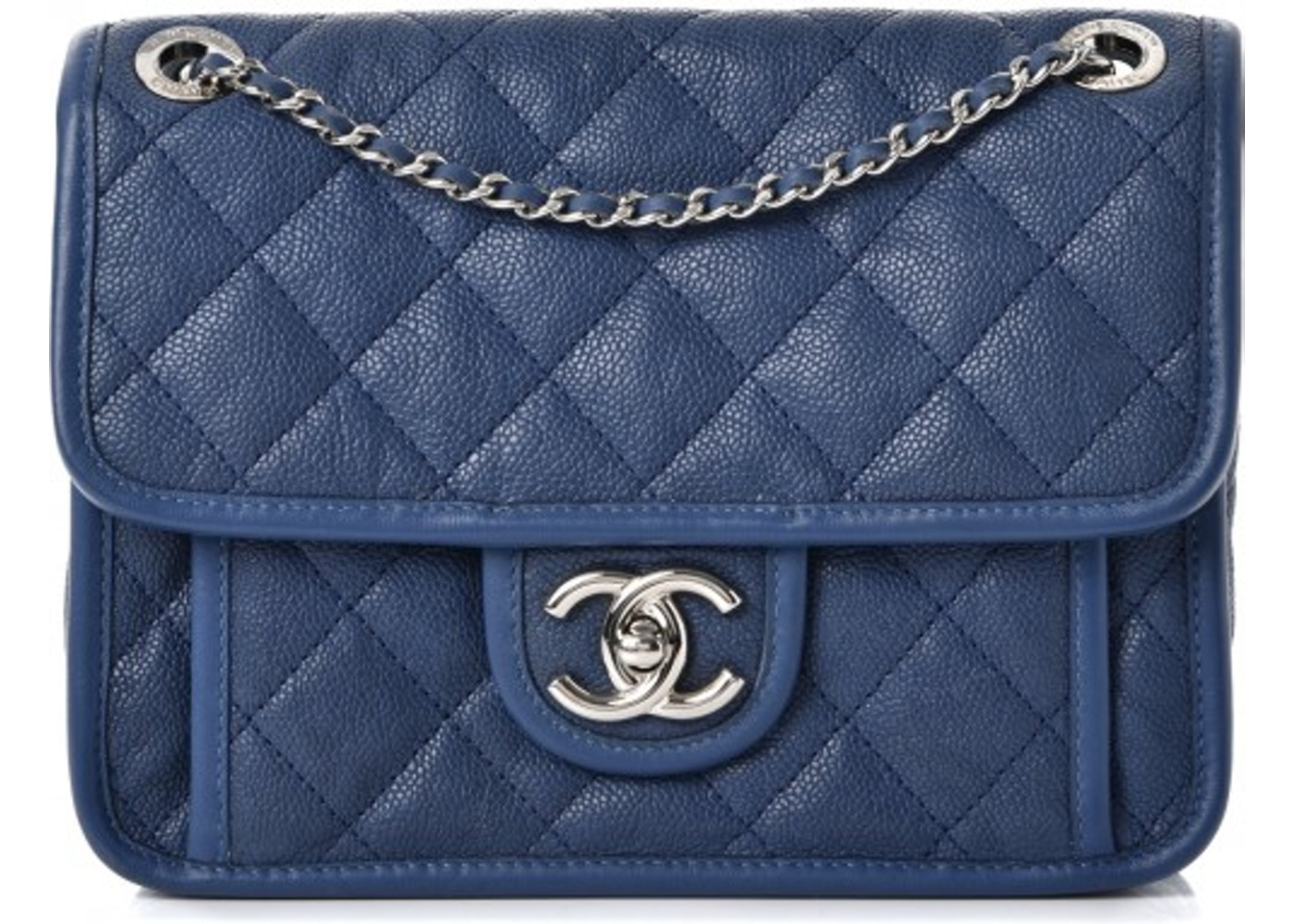 ffa749fa985a Chanel French Riviera Flap Quilted Diamond Mini Blue. Quilted Diamond Mini  Blue