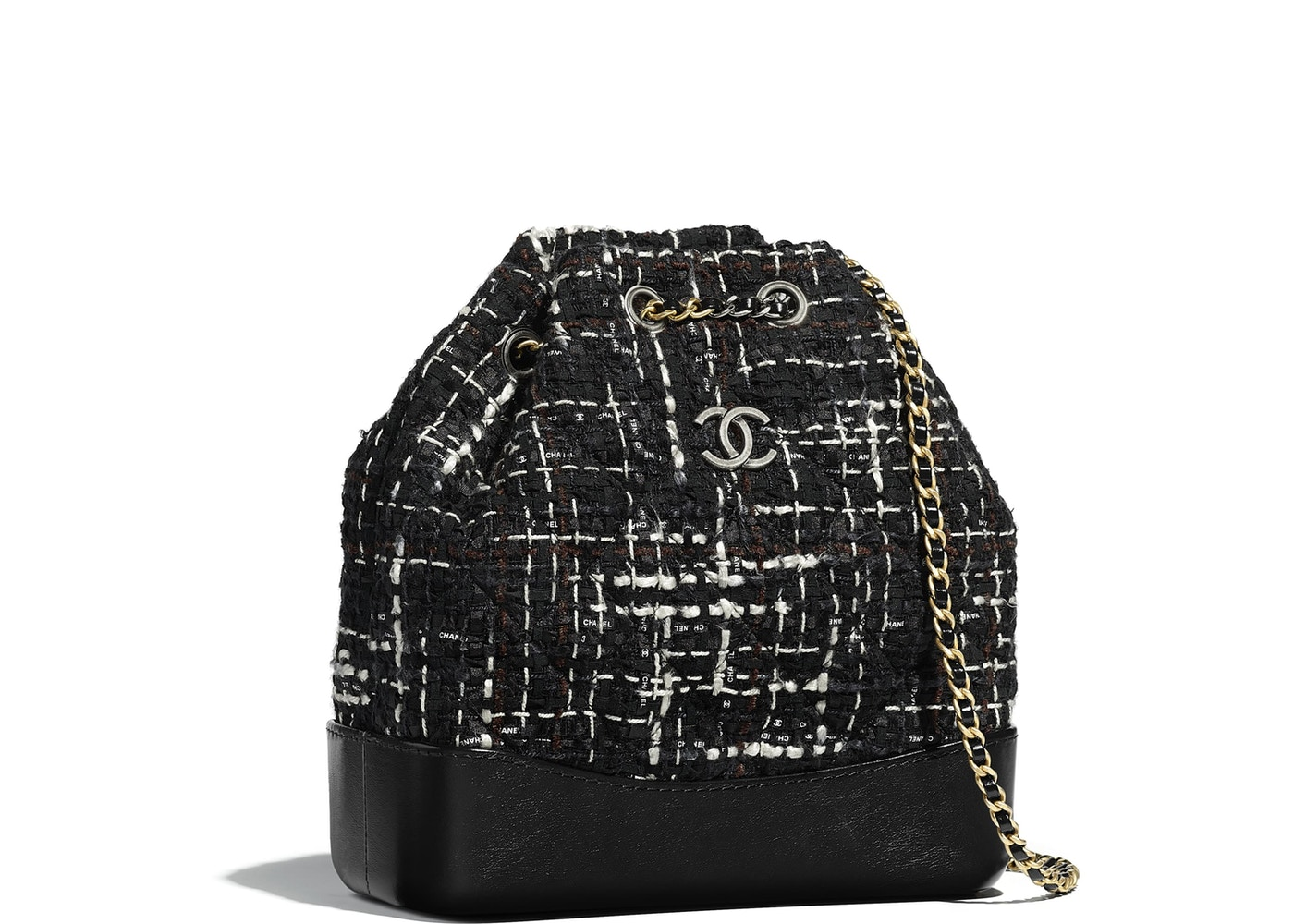 9b4fb45d5ff4 Chanel Gabrielle Backpack Tweed Small Black Multicolor. Tweed Small Black  Multicolor