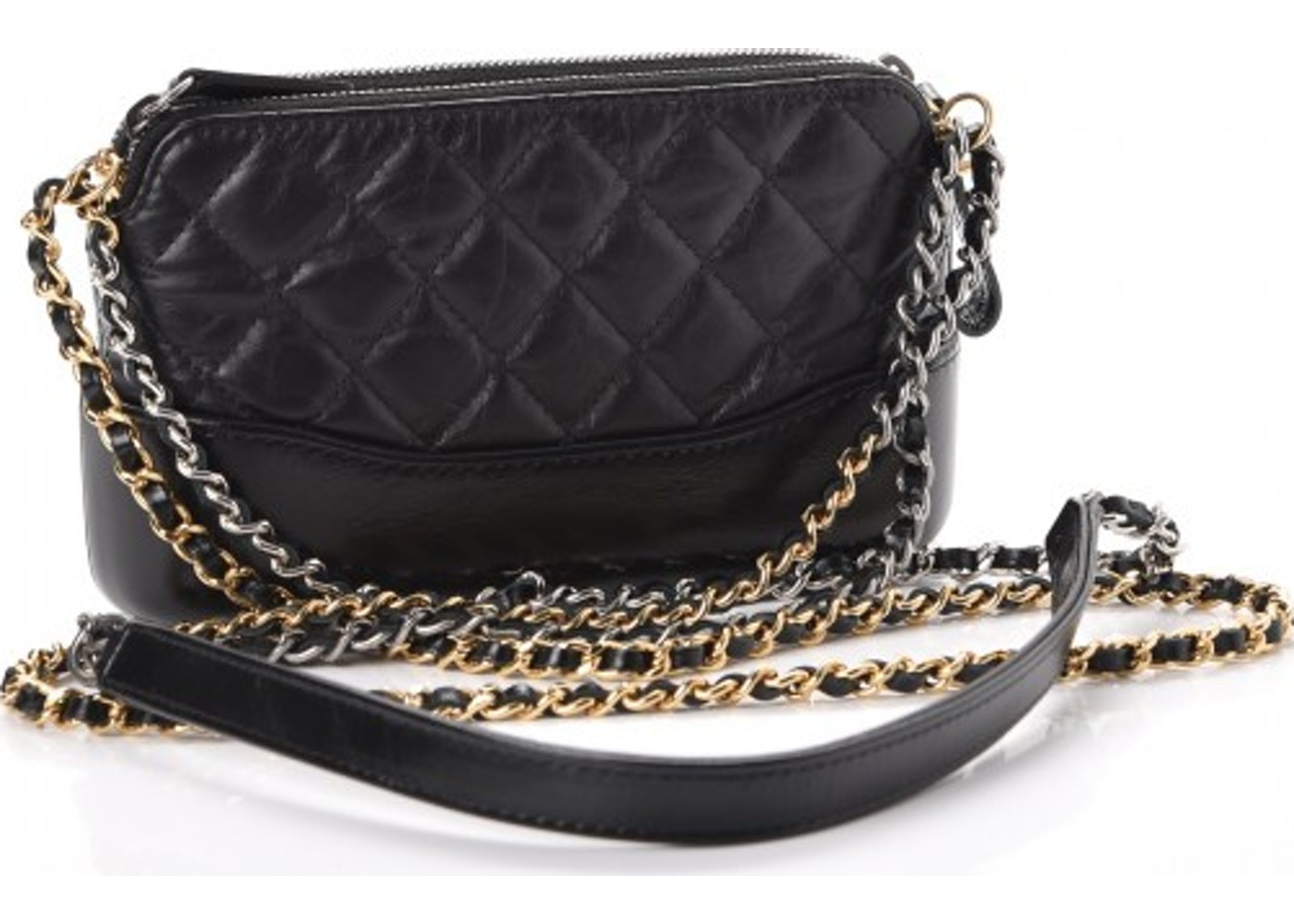 6bcb4ea351ee Chanel Gabrielle Clutch With Chain Quilted Diamond Small Black