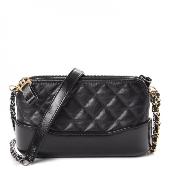 399ad8da1f0e Chanel gabrielle clutch with chain quilted diamond small black jpg  1400x1000 Chanel clutch