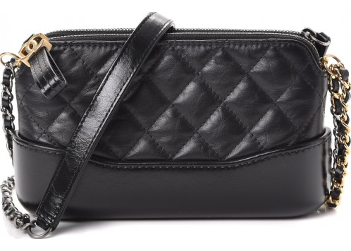 56683b95f298 Chanel Gabrielle Clutch With Chain Quilted Diamond Small Black. Quilted  Diamond Small Black