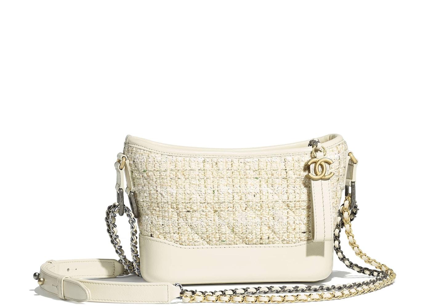 463835327da6 Chanel Gabrielle Hobo Bag Tweed Small Ecru White
